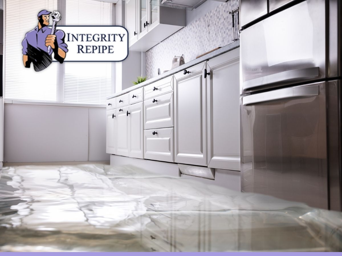 kitchen of a house flooded by storm damage