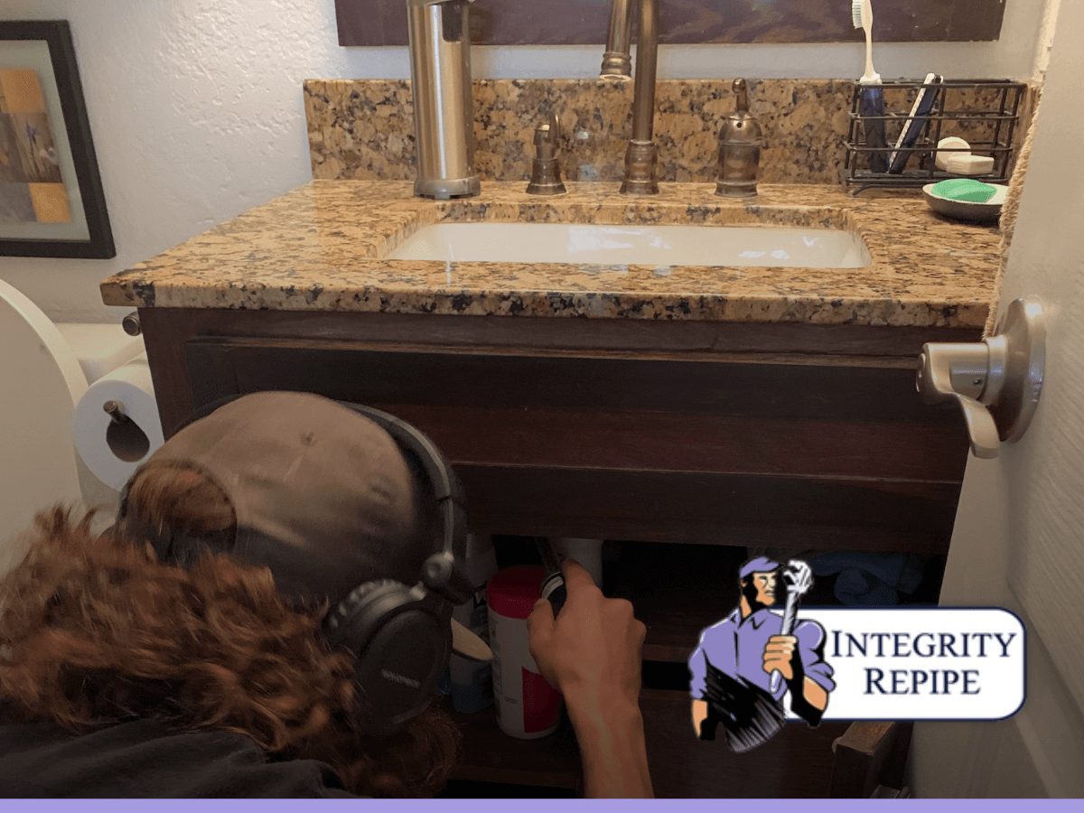 Integrity Repipe's experienced plumber performs a plumbing inspection